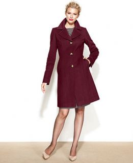 Anne Klein Petite Wool Cashmere Blend Walker Coat   Coats   Women