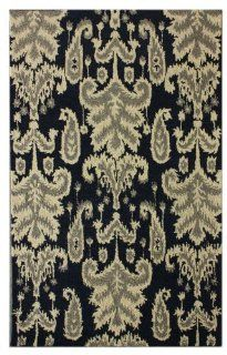 "Transitional 5' x 7' 6"" Navy Hand Tufted Area Rug"