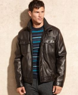Levis Faux Leather Jacket   Coats & Jackets   Men