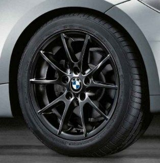 "BMW Genuine 18"" Black Wheel Rim double spoke 182 128i 135i 128i 135i E82 E88 Automotive"