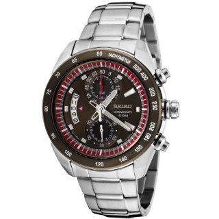 Seiko Men's SNN181P Chronograph Brown Dial Stainless Steel Watch at  Men's Watch store.