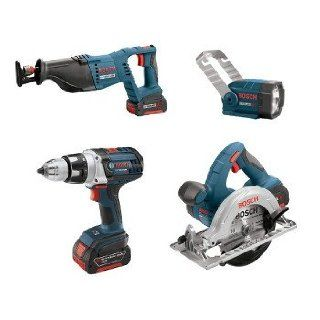 Factory Reconditioned Bosch CLPK401 181 RT 18V Cordless Lithium Ion 4 Tool Combo Kit   Power Tool Combo Packs