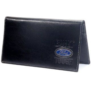 Built Ford Tough Black Leather Wallet/Checkbook Cover