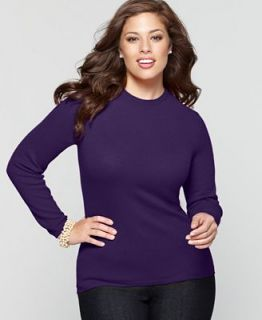 Charter Club Plus Size Sweater, Long Sleeve Crewneck Cashmere   Sweaters   Plus Sizes