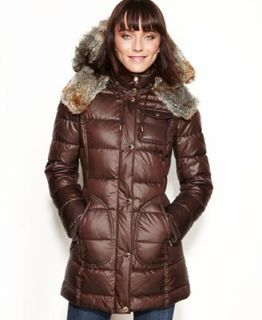 Laundry by Design Faux Fur Trim Hooded Puffer Coat   Coats   Women