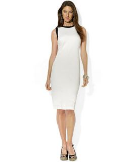Lauren Ralph Lauren Sleeveless Contrast Trim Dress   Dresses   Women