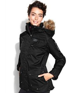 Helly Hansen Jacket, Harmony Hooded Faux Fur Trim Ski Jacket   Jackets & Blazers   Women