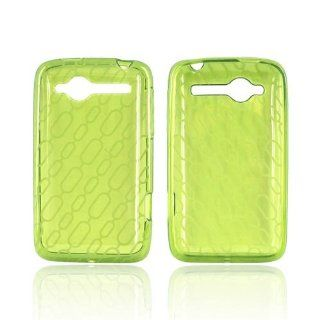 Chain Design on Neon Green HTC Bee Wildfire TPU Gel Case Cover [Anti Slip] Supports Premium High Definition Anti Scratch Screen Protector; Best Design with High Quality; Coolest Soft Silicone Rubber Case Cover for Bee Wildfire (Release Date) Supports HTC W