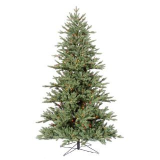 4.5 ft. Artificial Christmas Tree   High Definition PE/PVC Needles   Blue and Green   Noble Fir   Prelit with Multi Color Mini Christmas Lights   Vickerman G112347