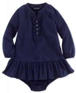Ralph Lauren Baby Girls Dress, Baby Girls Striped Hooded Dress   Kids