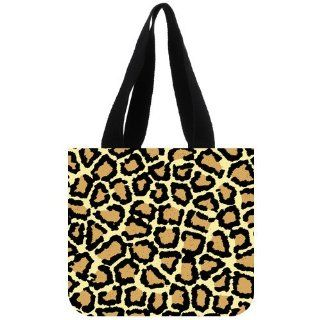 Custom Leopard Print Tote Bag (2 Sides) Canvas Shopping Bags CLB 167   Reusable Grocery Bags