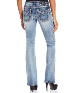 Miss Me Jeans, Bootcut Leg Rhinestone, Medium Wash   Jeans   Women