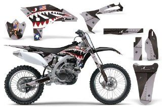 P 40 Warhawk AMRRACING MX Graphics decal kit fits Yamaha YZ250F (2010 2013) Black Automotive