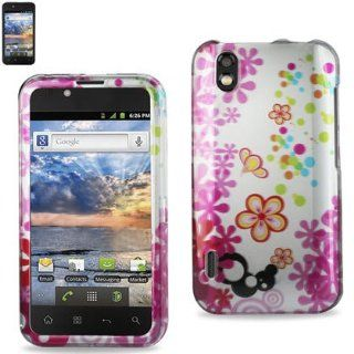 Reiko 2DPC LGLS855 156 Premium Durable Snap On Protective Case for LG Marguee LS855   1 Pack   Retail Packaging   Multi Cell Phones & Accessories
