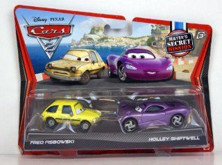 Disney / Pixar CARS 2 Movie Exclusive 155 Die Cast Car 2Pack Fred Fisbowski Holley Shiftwell Maters Secret Mission Toys & Games