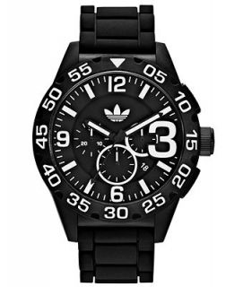adidas Watch, Unisex Chronograph Black Silicone Strap 48mm ADH2859   Watches   Jewelry & Watches