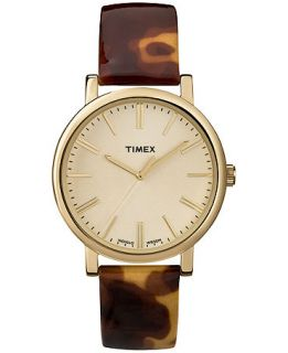 Timex Watch, Womens Premium Originals Tortoise Patent Leather Strap 38mm T2P237AB   Watches   Jewelry & Watches