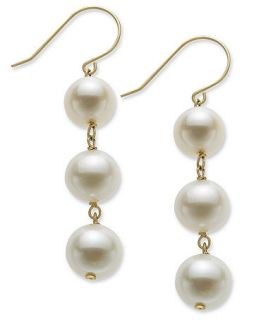 Pearl Earrings, 14k Gold Cultured Freshwater Pearl Drop Earrings (8.5mm)   Earrings   Jewelry & Watches