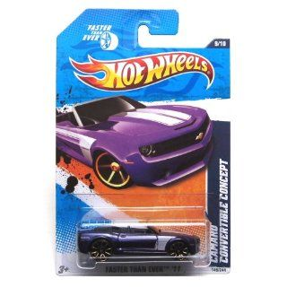 2011 Hot Wheels Faster Than Ever Camaro Convertible Concept Purple #149/244 Toys & Games