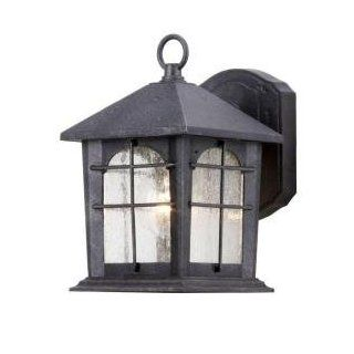 Hampton Bay Aged Iron 5.5 In. Outdoor Wall Lantern HB48023P 151   Wall Porch Lights