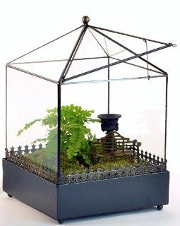Square Glass Terrarium (Wardian Case) with Access Top   War 149 Patio, Lawn & Garden