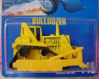 Mattel Hot Wheels 1991 164 Scale Yellow Bulldozer Die Cast Car Collector #146 Toys & Games