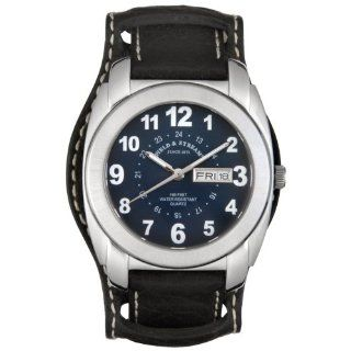 Field & Stream Men's F142GUSK Field Master Black Leather Strap Watch at  Men's Watch store.