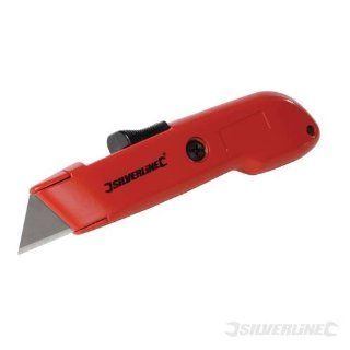 Silverline   Auto Retractable Safety Knife (140Mm   Utility Knives