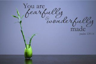 You are fearfully and wonderfully made. Psalm 13914 Vinyl Wall Decals Quotes Sayings Words Art Decor Lettering Vinyl Wall Art Inspirational Uplifting  Nursery Wall Decor  Baby