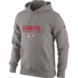 Nike Kansas City Chiefs Classic Team Issue Hoodie   Ash  Sports Fan Sweatshirts  Sports & Outdoors