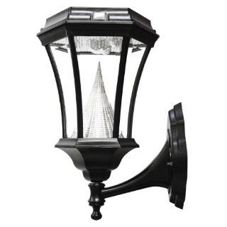 Gama Sonic Victorian Solar Charged LED Lantern, Wall Mount, Black Finish #GS 94W   Outdoor Post Lights