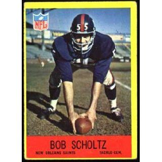 "Bob Scholtz ""New Orleans Saints"" 1967 NFL Football Trading Card (Philadelphia Chewing Gum) (#129) New Orleans Saints Books"