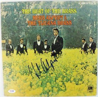 HERB ALPERT THE BEAT OF THE BRASS SIGNED ALBUM COVER W/ VINYL PSA/DNA #S80795 Entertainment Collectibles