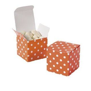 Orange Polka Dot Gift Boxes   Solid Color Party Supplies & Solid Color Favor Containers Health & Personal Care