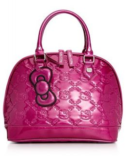 Hello Kitty Glitter Embossed Bowler Bag   Handbags & Accessories