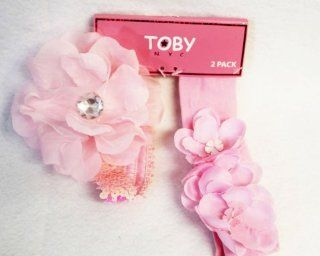 Toby NYC Girls Pink Flower Headbands   2 Pack Beauty
