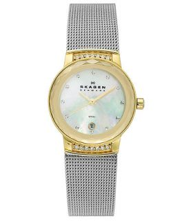 Skagen Denmark Watch, Womens Stainless Steel Mesh Bracelet 26mm SKW2038   Watches   Jewelry & Watches