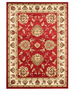 MANUFACTURERS CLOSEOUT Safavieh Area Rug, Lyndhurst LNH555 4012 Red/Ivory 67 X 96   Rugs