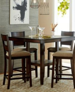 Caf� Latte Dining Room Furniture, 5 Piece Counter Height Set (Table and 4 Bar Stools)   Furniture