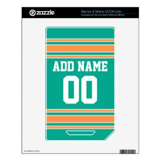 Team Jersey with Custom Name and Number NOOK Color Decal