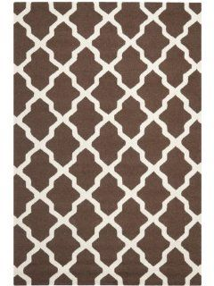 Safavieh CAM121H Cambridge Collection Handmade Wool Area Runner, 2 Feet 6 Inch by 4 Feet, Dark Brown and Ivory