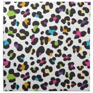Colorful Cheetah Leopard Print Gifts for Teens Napkin