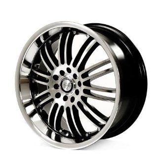 TORO TR9004 17X7.5+38 4X100+4X114.3 C.B 73.1 BLACK/MACH FACE Automotive