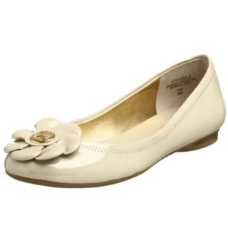 AK Anne Klein Women's Poodle Flat,Ivory,6 M US Shoes
