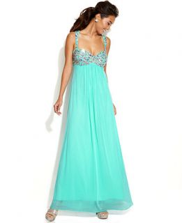 Xscape Sleeveless Embellished Bodice Gown   Dresses   Women