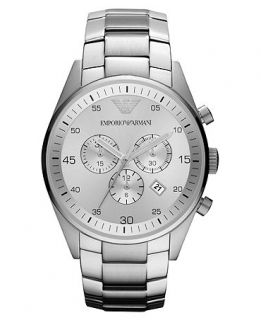 Emporio Armani Watch, Womens Chronograph Stainless Steel Bracelet 43mm AR5963   Watches   Jewelry & Watches