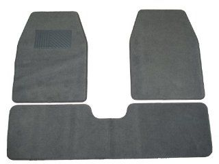 TSP TCM103GY Universal SUV/Van/Pickup Truck Carpet Floor Mat   3pc Gray Automotive
