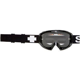 Spy Optic Black Targa Mini Motocross/Off Road/Dirt Bike Motorcycle Goggles Eyewear   Clear/Anti Fog With Posts / One Size Fits All Automotive