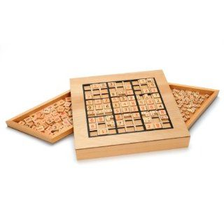 Deluxe Wooden Sudoku Puzzle with Wooden Number and Thinking Tiles Toys & Games