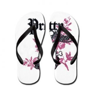 Artsmith, Inc. Kid's Flip Flops (Sandals) Pretty Poison Forever Skull and Crossbones Clothing